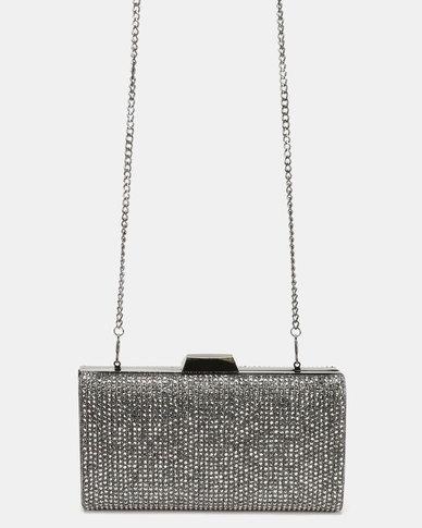 2210f85cfdc Steve Madden Bstones Clutch Bag Silver