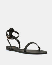 ff5dc457b Footwork Cali Flat Jelly Toe Thong Sandals Navy