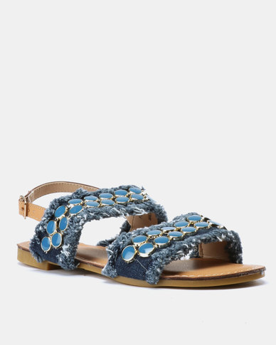 Footwork Edie Sandal Blue Denim