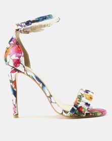 Footwork Fallon Printed Heels Purple
