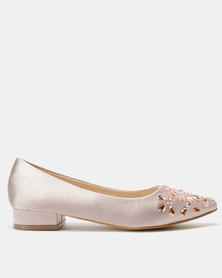 Utopia Crystal Pointy Flats Pink