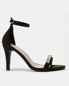 Utopia Embellished Barely There Heels Black