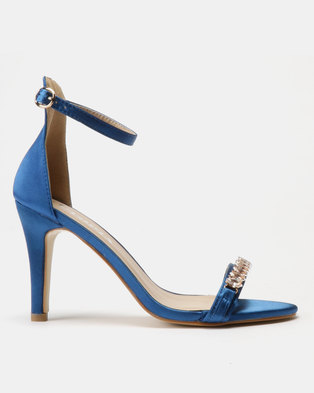 Utopia Embellished Barely There Heels Blue