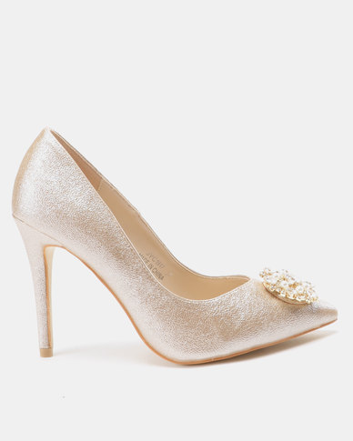 Utopia Embellished Pointy Courts Gold