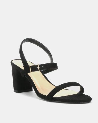 Utopia Minimalist Heel Sandals Black