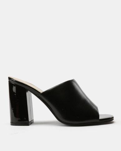 Utopia Mule Heel Sandals Black