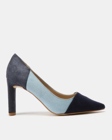 Utopia Colour Block Court Shoes Blue