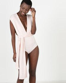 Sissy Boy Multi Wrap Bodysuit Pink