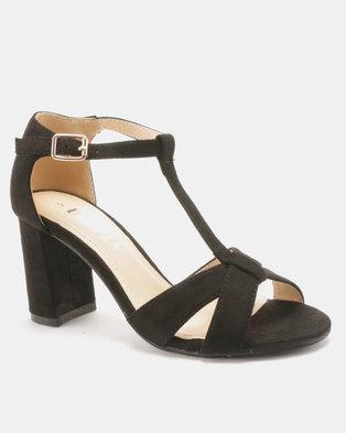 f537dfe52 Utopia T Vamp Block Heel Sandals Black