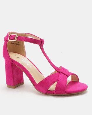 a7446372b Utopia T Vamp Block Heel Sandals .