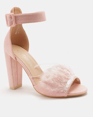 5d4117791 Utopia Feather Vamp Heel Sandals Pink