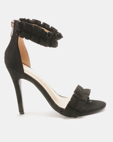 Utopia Rouged Barely There Heels Black