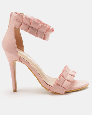 Utopia Rouged Barely There Heels Pink
