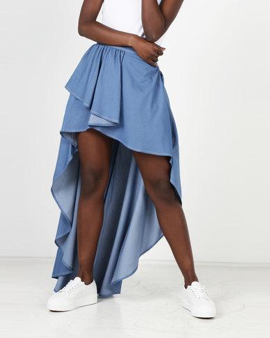 d5a74a4b85f90 Sissy boy high low denim skirt light blue zando jpg 388x485 Denim high low  skirt