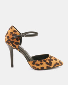 Utopia Pointy Heels Mary Jane Leopard