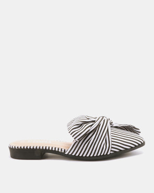 Utopia Candy Stripe Mules Black