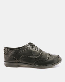 Utopia Ladies Brogue Lace Ups Black