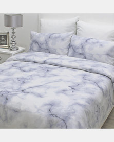 Sheraton Marble Duvet Cover Blue