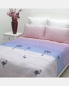 Sheraton Flamingo Duvet Cover Set Purple