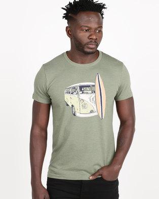 bfa461d164ca VENTS BRULL Board and Van Pastel T-shirt Green