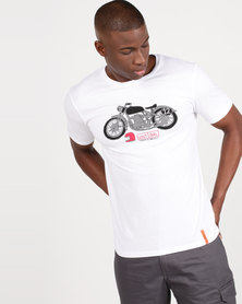 Vents Brull Moto Spirit T-Shirt White