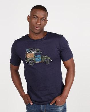 Vents Brull Animal Safari T-Shirt Navy 4f53786a913