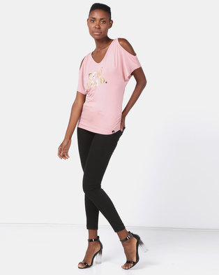 bb8f921d3d4ce ECKO Unltd Cold Shoulder Top with .