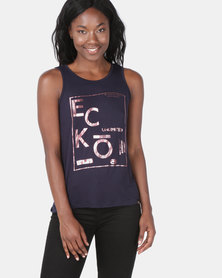 ECKÓ Unltd Open Back Tank Navy