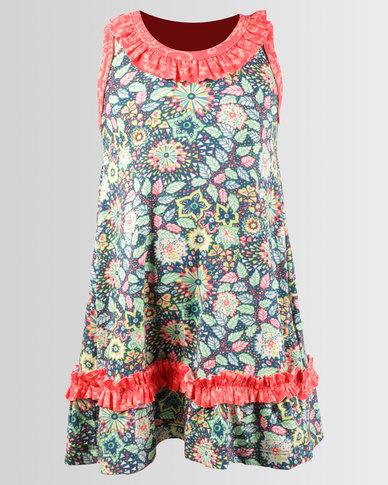 Bushba Tent Dress Jungle Mix Print