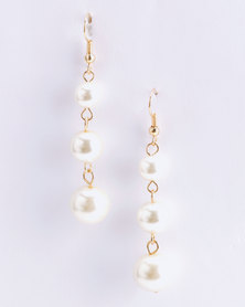 Jewels and Lace Pearl Drop Earrings Ivory