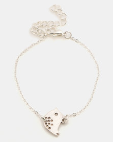 Jewels and Lace Bird Bracelet Silver