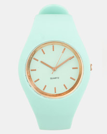 Jewels and Lace Silicone Watch  Mint