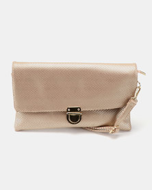 Vikson Fold Over CrossBody Bag Rose Gold