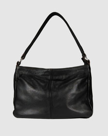 Icon Leather Shoulder Handbag Brown