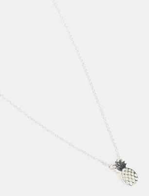 Utopia Pineapple Necklace Silver-tone