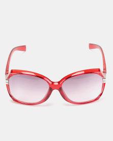 Utopia Metal Fashion Sunglasses Red Grey