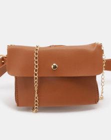 Utopia Envelope Crossbody Bag Red Brown