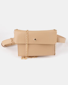 Utopia Envelope Crossbody Bag Beige