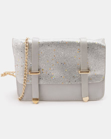 Utopia Shimmer Crossbody Bag Silver