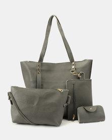 Utopia 4 Piece Tote Bag Dark Grey