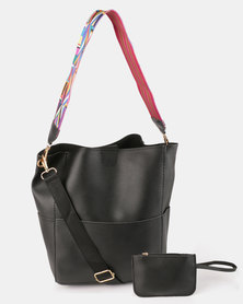 Utopia 2 Piece Shopper Bag Black