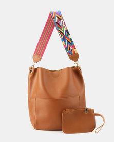 Utopia 2 Piece Shopper Bag Tan