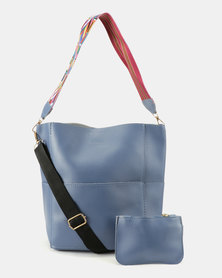 Utopia 2 Piece Shopper Bag Blue