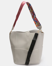 Utopia 2 Piece Shopper Bag Grey