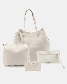 Utopia 4 Piece Shopper Bag Light Grey