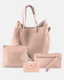 Utopia 4 Piece Shopper Bag Pink