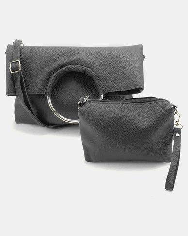 Utopia Foldover Ring Bag Black