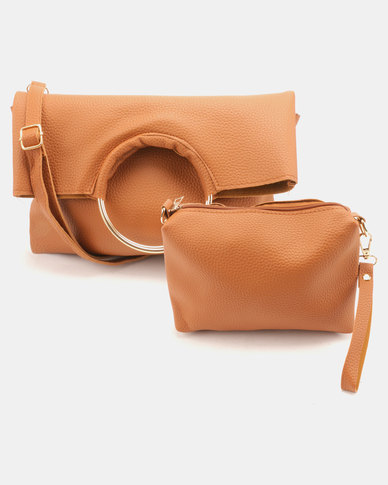 Utopia Foldover Ring Bag Brown