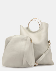 Utopia Foldover Ring Bag Grey