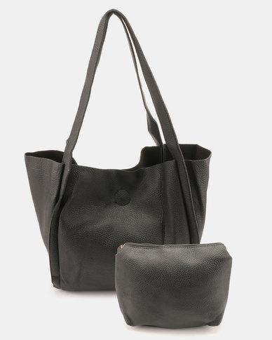 Utopia Folded Shopper Bag Black